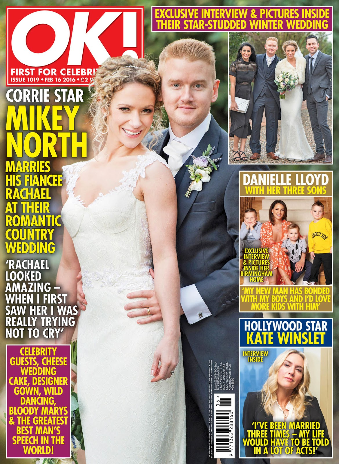 As We Reported Last Weekend Mikey North Married His Fiancee Rachael Isherwood Ok Magazine Have The Exclusive Pictures From Wedding And You Can Find