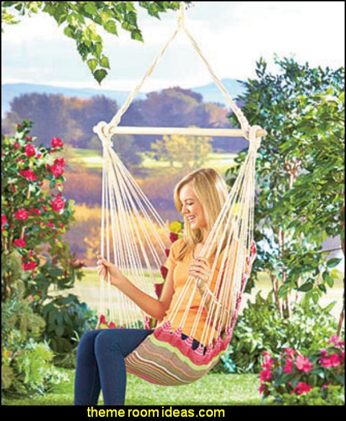 Swinging Chair Hammocks fun outdoor garden decorations