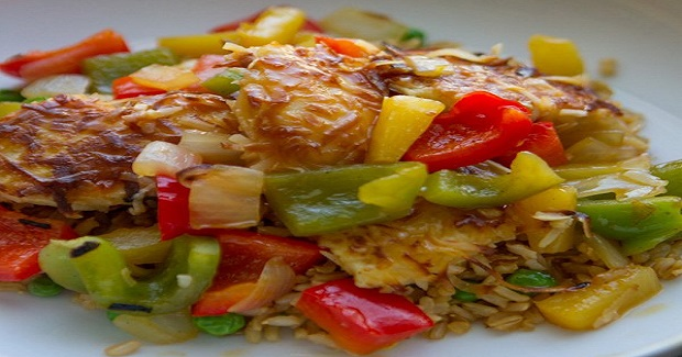 Coconut Chicken With Pineapple And Peppers Recipe