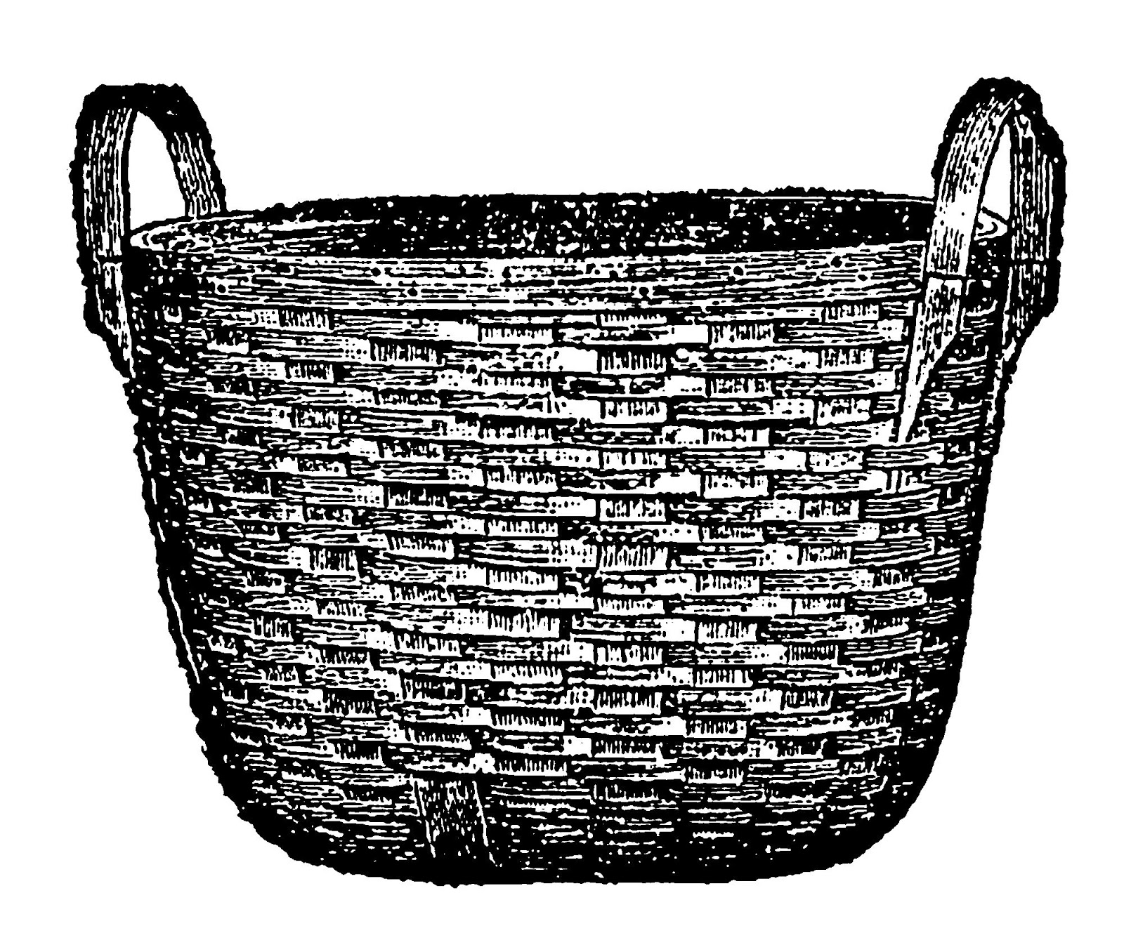 digital stamp design laundry wood woven basket illustrations jpg 1600x1319 vintage laundry basket clipart [ 1600 x 1319 Pixel ]