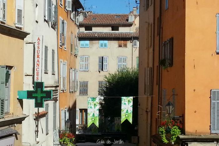 Calle y casas de Grasse