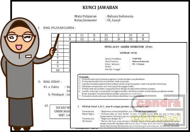 Soal Pas Bahasa Indonesia Kelas 9 Smp Mts Semester 1 Dan Kunci Jawaban Cara Mujarab