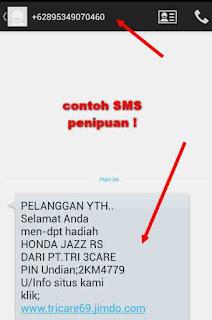 Cara Mudah kenali Ciri Penipuan SMS Berhadiah