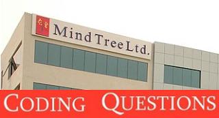Mindtree Coding Questions | AMCAT