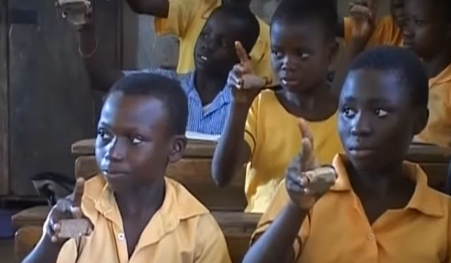 Students used stones as computer mouse at Assin Asamankese D/A Primary School [Video]