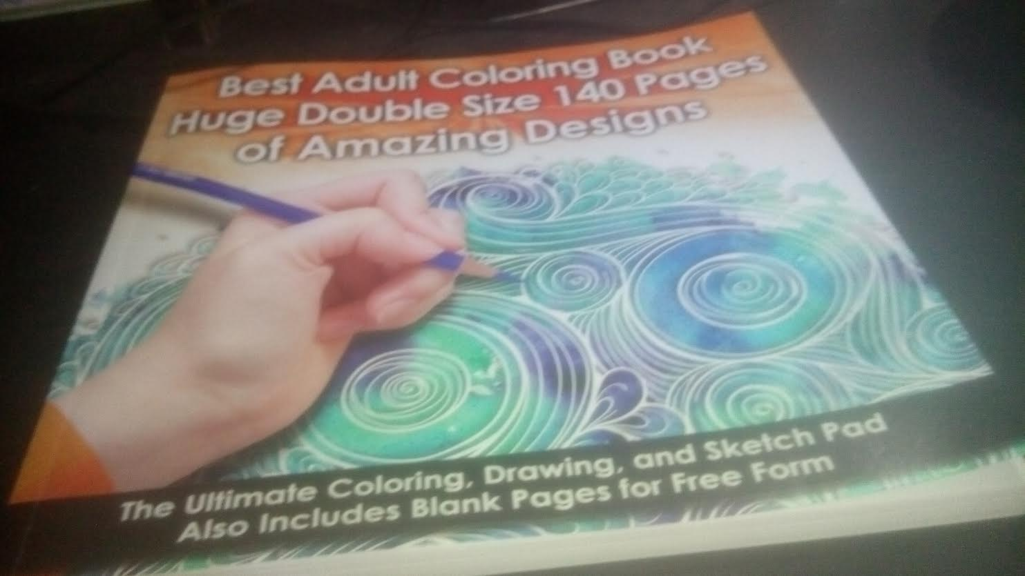 - Amazing Designs Best Adult Coloring Book 140 Pages Double Size