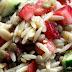 Salade d'orzo, lentilles, citron et fraises