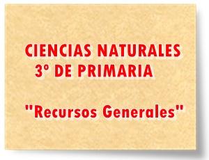 Recursos generales de Ciencias Naturales de 3º de Primaria