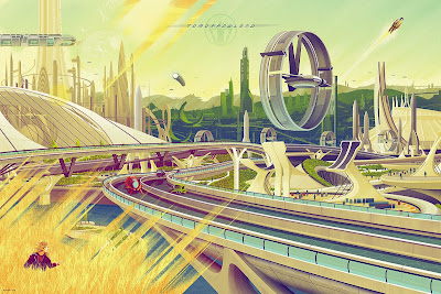 Tomorrowland Standard Edition Screen Print by Kevin Tong