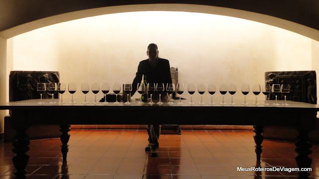 Degustação de vinho tinto - Concha y Toro