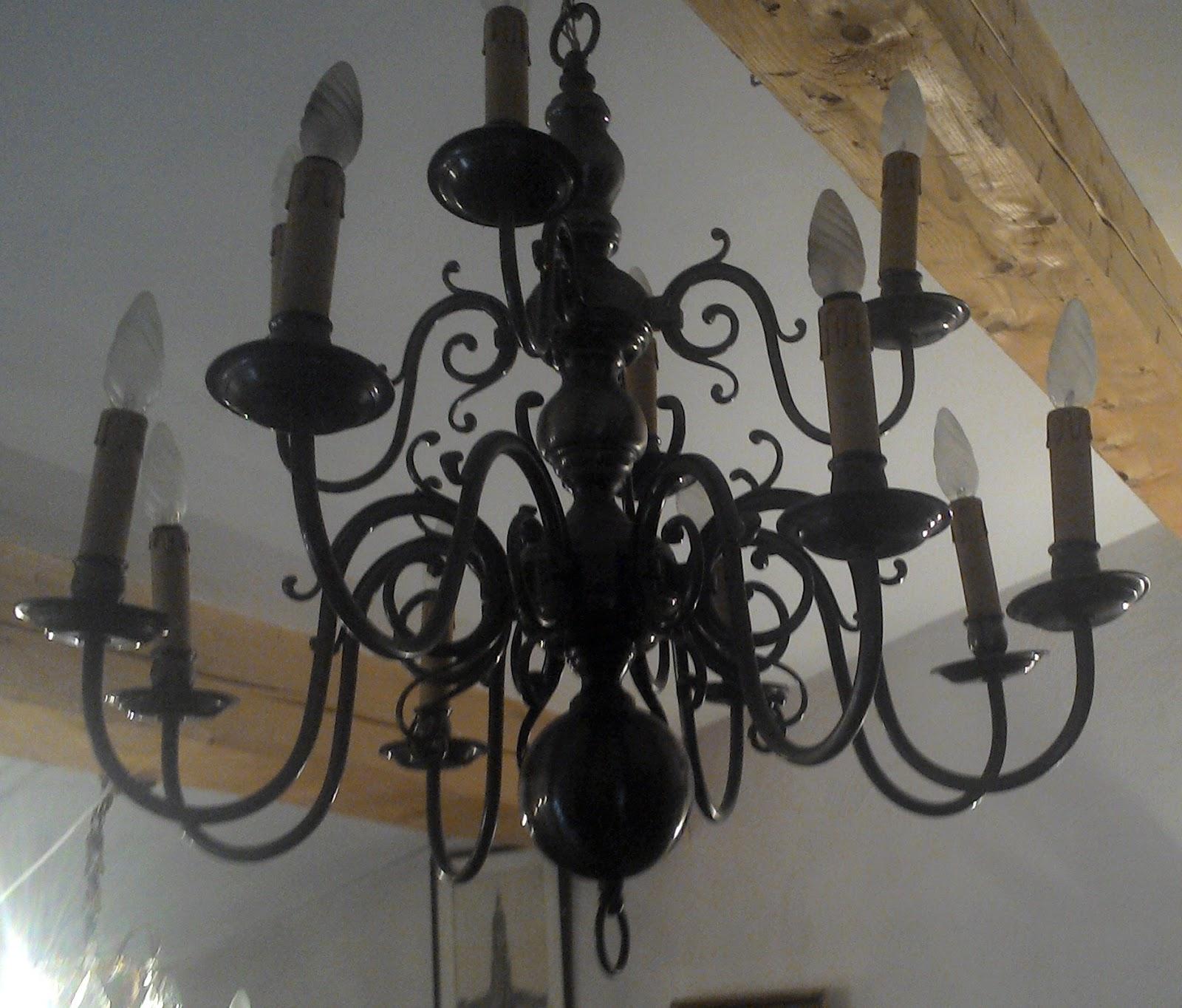 antique french tin huge chandelier 12 lights ceiling suspension arm art. Black Bedroom Furniture Sets. Home Design Ideas