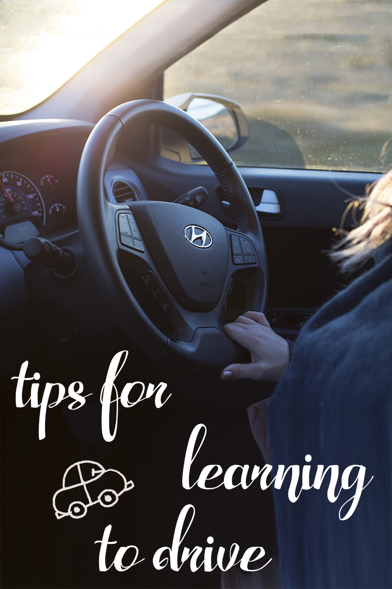 tips for learning to drive