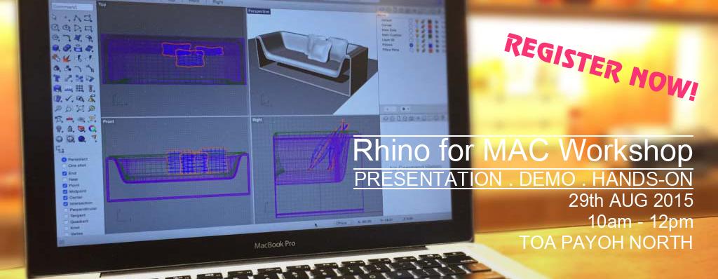 Rhino News, etc : Rhino for Mac Event in Singapore