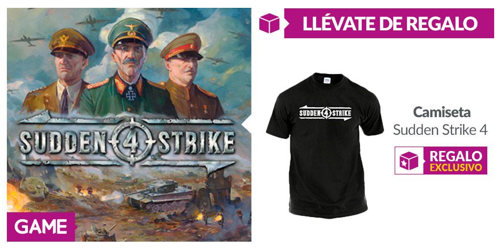 Consigue la camiseta oficial de Sudden Strike IV con la reserva de GAME