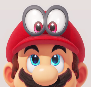 Super Mario Odyssey Mario's cap hat eyes sentient parasite