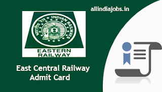 East Central Railway Sports Quota Admit Card