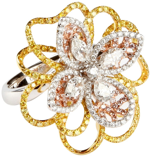 Entice Daffodil Floral Ring