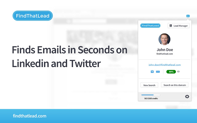 FTL - Find That Lead to FINDS EMAILS IN SECONDS ON LINKEDIN AND TWITTER