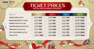 Where to buy Fifa World Cup 2018 Tickets online