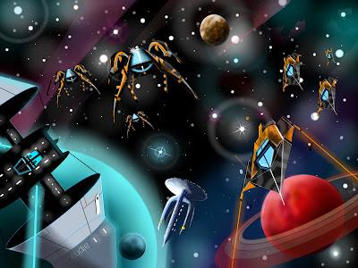 """The Battle""   -    Sci Fi Digital Art The Battle"