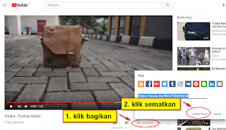 embed video youtube ke lazada