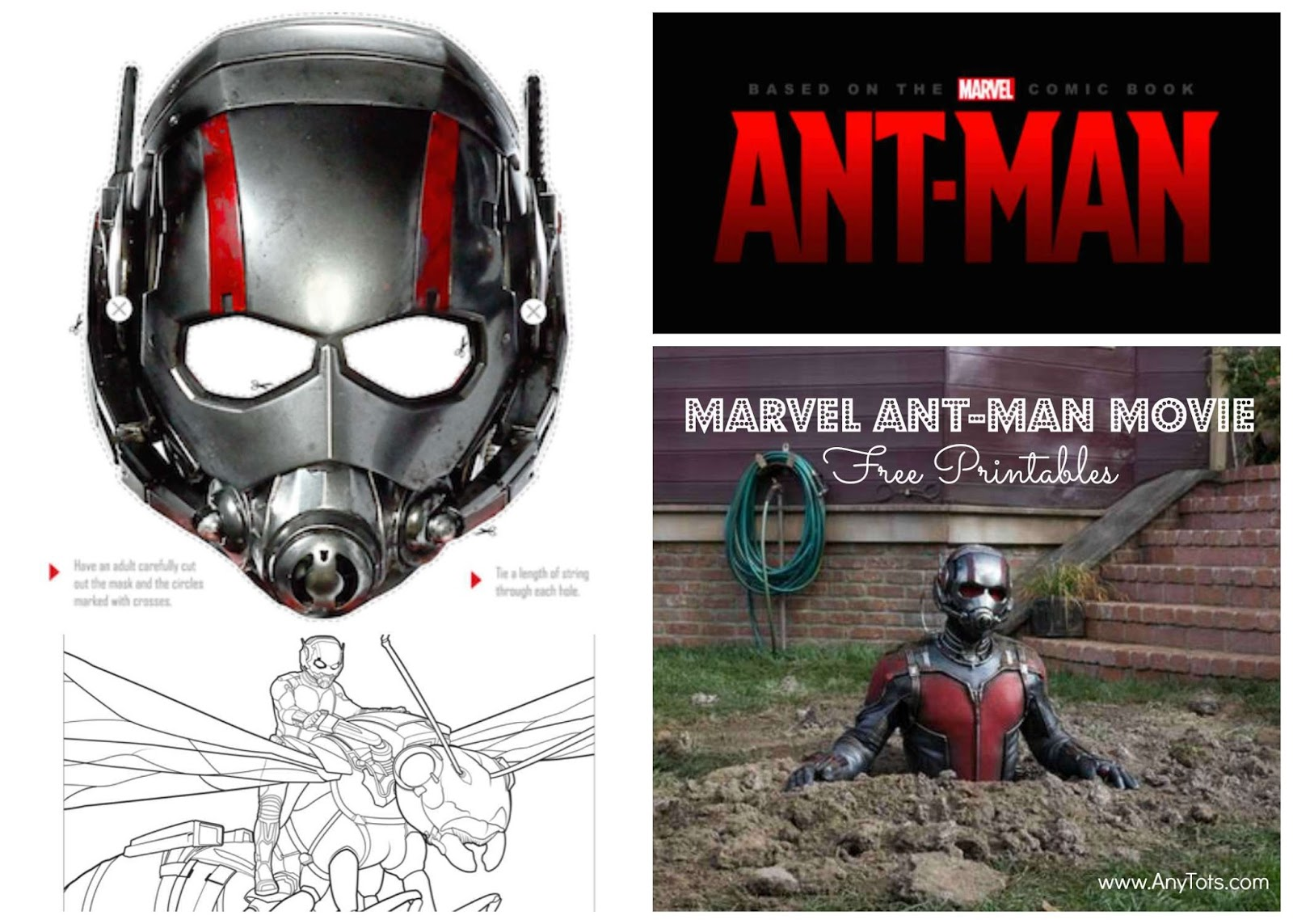 Print Freeprintables From The Ant Man Movie Cut Out Mask