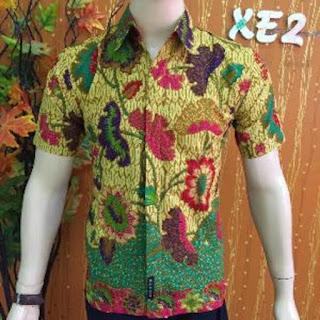 Baju Kemeja Batik Kombinasi Pria Model Terbaru