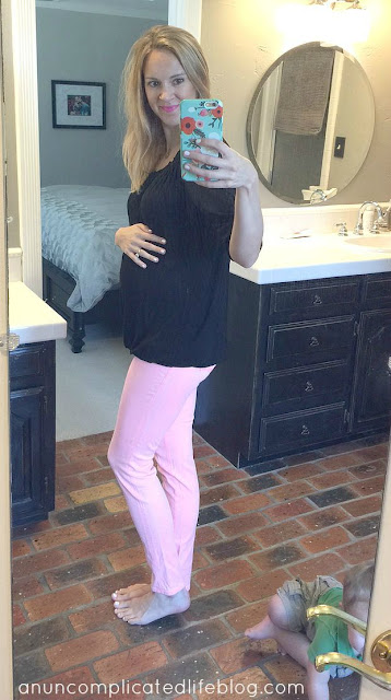 Loveappella #maternity peasant top, J Brand maternity jeans