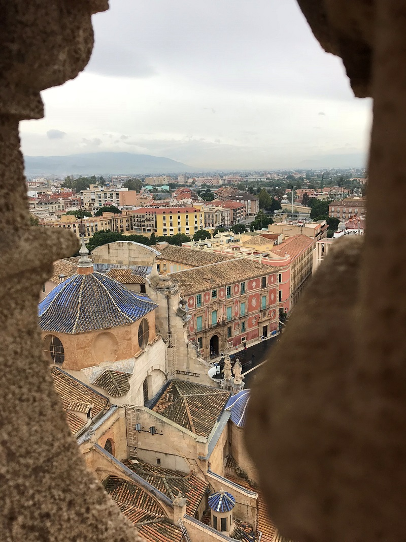 View from the Bell tower of the cathedral of Murcia
