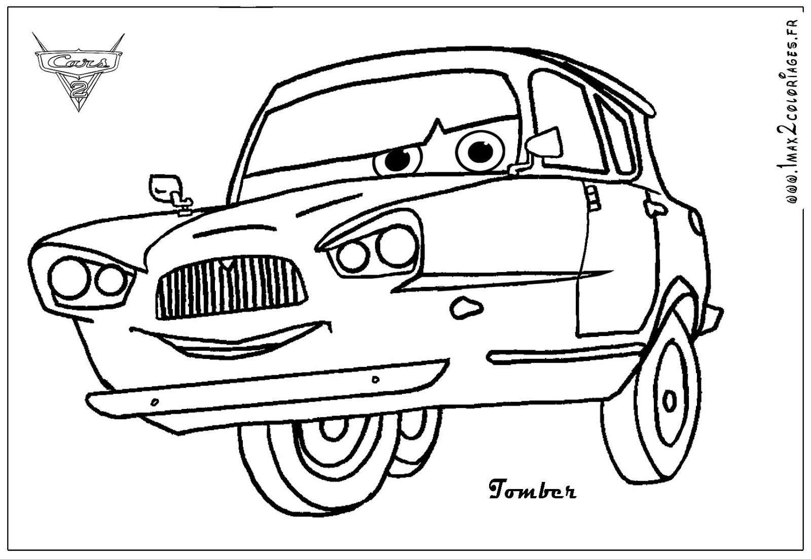 coloring pages from car movie | Desenho de Carros Para Colorir ~ Imagens Para Colorir