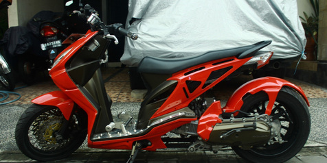 gambar Modifikasi Stang Pada Honda Ala Versi Moge