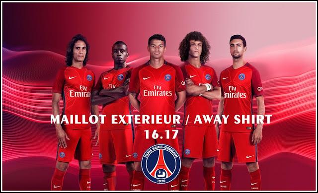 Nike PSG Paris Saint German Season 2016 - 2017 Away Soccer Jersey