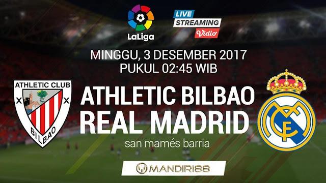 Prediksi Bola : Athletic Bilbao Vs Real Madrid , Minggu 03 Desember 2017 Pukul 02.45 WIB @ SCTV