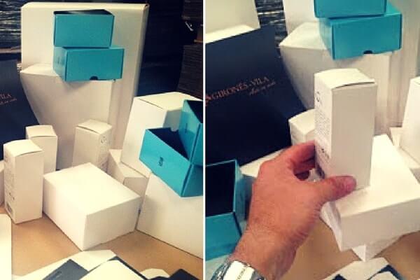 cajas para cremas con cartulina grafica