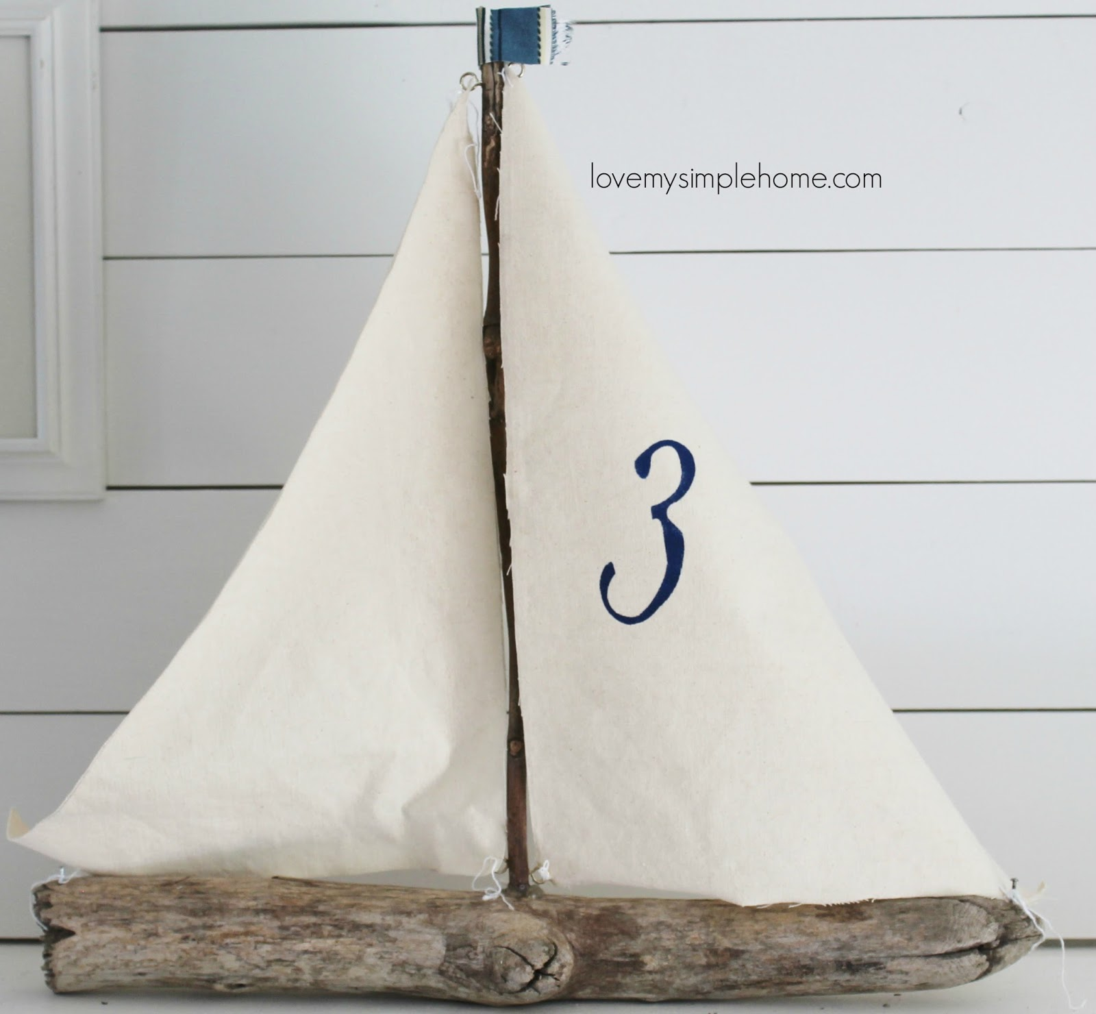 Canvas driftwood sailboat love my simple home for Diy driftwood sailboat