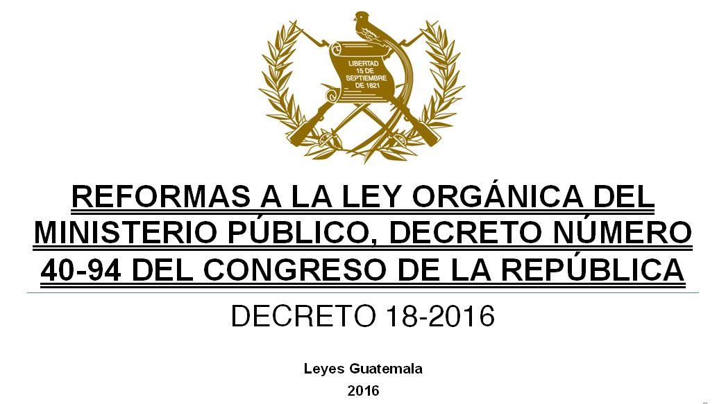 Leyes acuerdos y temas de guatemala decreto 18 2016 for Ley de ministerios