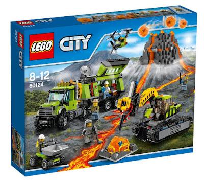 TOYS : JUGUETES - LEGO City  60124 Centro de Investigación del Volcán  Volcano Research Base  Producto Oficial 2016 | Piezas: 824 | Edad: 8-12 años  Comprar en Amazon España & buy amazon USA