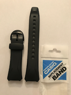 CASIO WAVECEPTOR Original Band WVA-104HA WVA-104HY WVA-104 Black Strap WVA104
