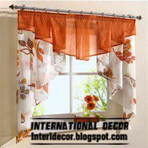 Curtains For The Kitchen Kemper Cabinets Home Decor Ideas Small Models Kitchens In Different Colors Orange Curtain Model Windows 2013