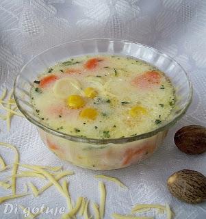Zupa z kukurydzą i serkiem topionym