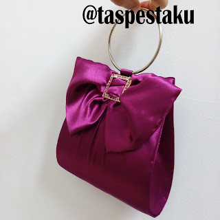 Tas Pesta Clutch Bag Ungu Purple Cantik Mewah Unik