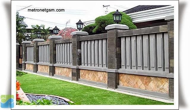 desain pagar rumah tembok minimalis 4983h