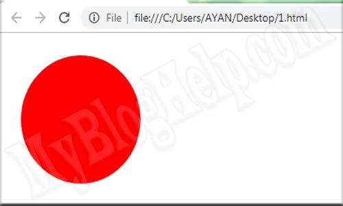 Cirlce SVG example