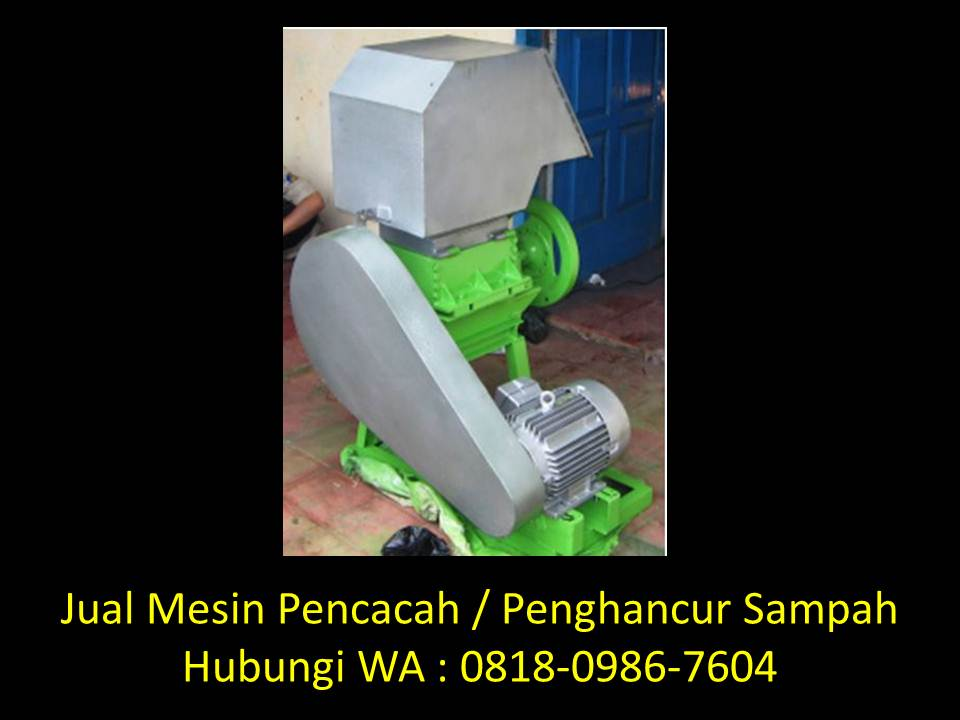 proposal mesin pencacah sampah organik di bandung