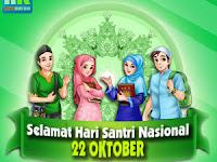 DP BBM dan WA Hari Santri Nasional Elegan