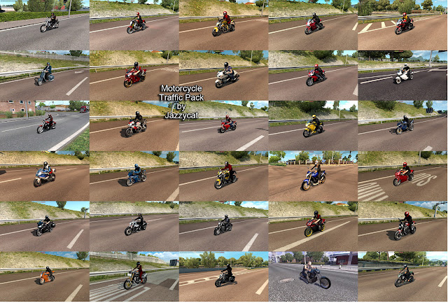 ets 2 motorcycle traffic pack v2.1 by jazzycat screenshots 2