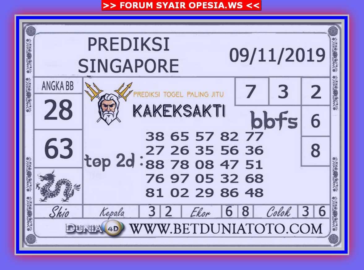Kode syair Singapore Sabtu 9 November 2019 50