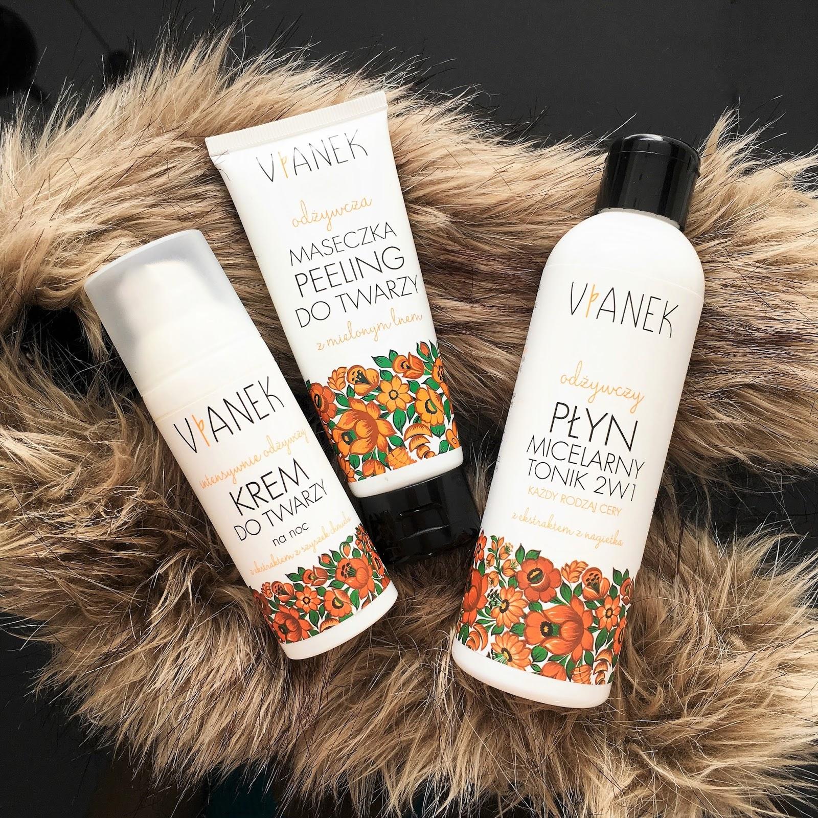 3 produkty do twarzy z Vianka z serii odżywczej: krem, maska i micel