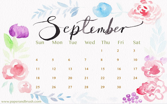 Wallpaper September 2016 - Paper and Brush