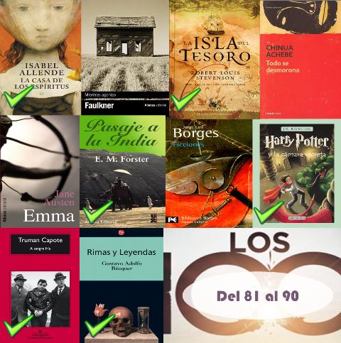 81 al 90 de los 100 mejores libros de todos los tiempos
